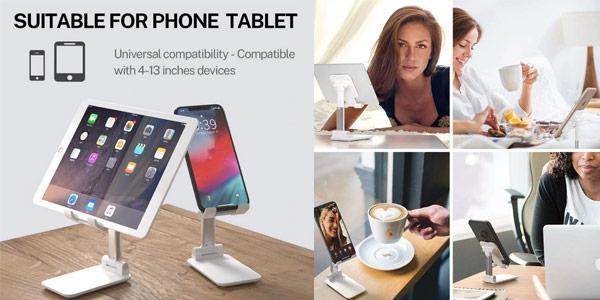 Soporte de escritorio para teléfono móvil o Tablet chollo en AliExpress