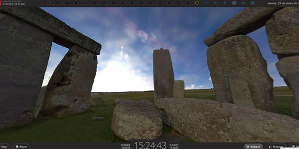 Stonehenge visita virtual observación cielo monumento megalítico