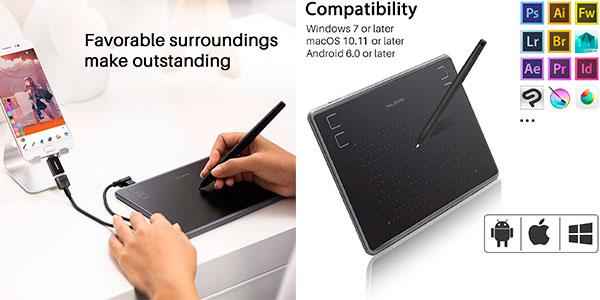 Tableta gráfica de dibujo Huion Inspiroy H430P con stylus barata