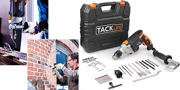 Taladro percutor Tacklife PID03B de 850 W con maletín y brocas barato