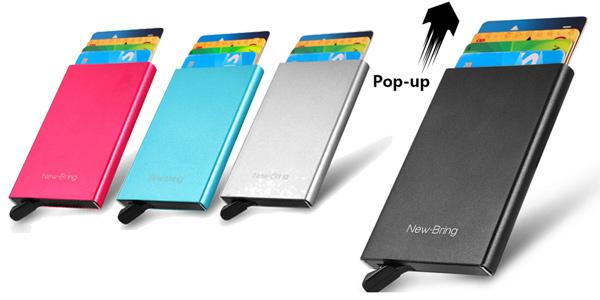 Tarjetero metálico Xiaomi Newbring Mini barato en AliExpress