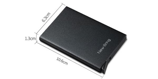 Tarjetero metálico Xiaomi Newbring Mini oferta en AliExpress