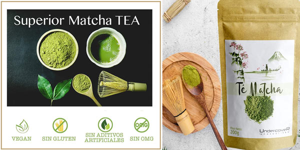 Té verde Matcha Premium Undercover en polvo de 200 gr barato en Amazon