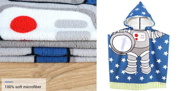 Toalla con capucha MCGMITT Space Man para niños barata en Amazon