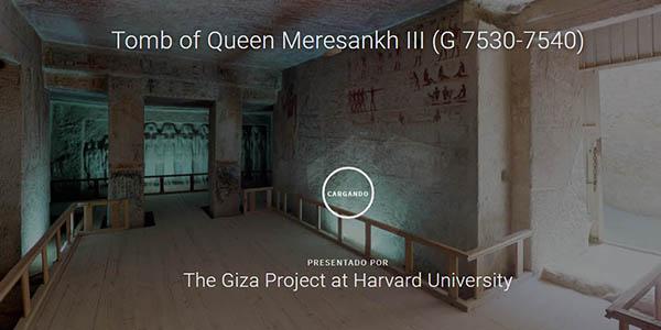 Tumba reina Meresanj III Antiguo Egipto recorrido virtual gratis