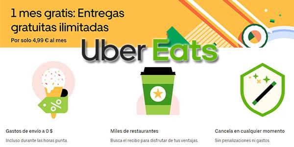 Uber Eats Pass mes gratis