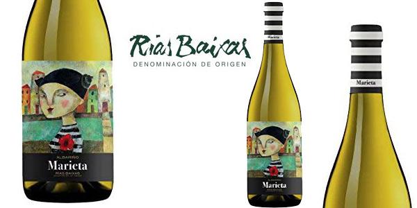 Vino blanco Albariño Marieta D.O. Rías Baixas de 750 ml barato en Amazon