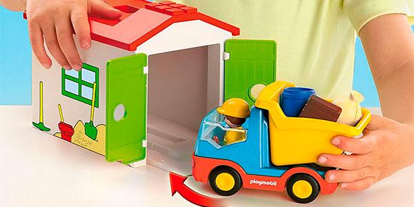 Camión volquete con garaje Playmobil 123 barato