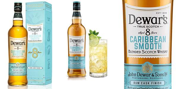 Whisky Escocés Dewar's 8 años Caribbean Smooth de 700 ml barato en Amazon