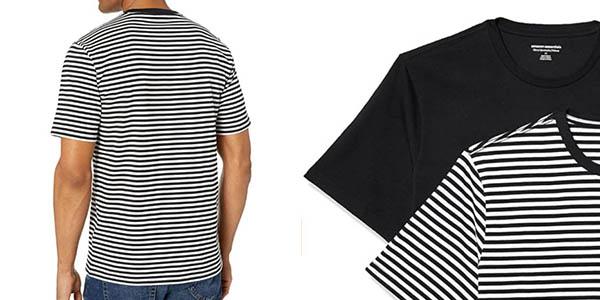 Amazon Essentials 2 pack Slim Fit Crewneck pack camisetas oferta