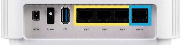 ASUS ZenWifi AX XT8 puertos