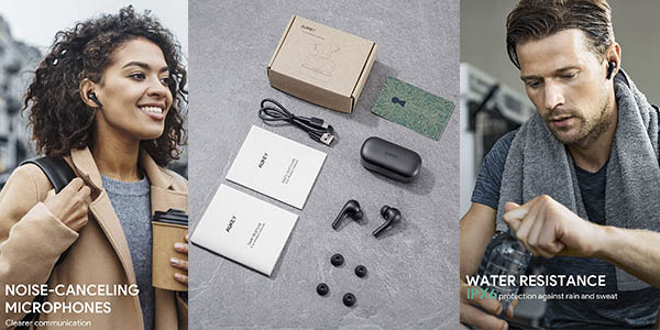 Aukey Sport auriculares inalámbricos Bluetooth 5 oferta