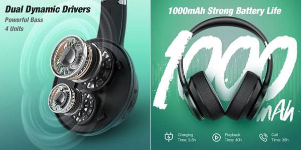 Auriculares inalámbricos con micrófono BlitzWolf® AirAux AA-ER3 Bluetooth V5.0 oferta en BangGood