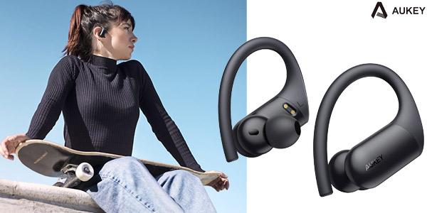 Auriculares deportivos bluetooth Aukey Aptx EPT-32 de 35 horas de reproducción baratos en Amazon
