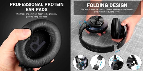 Auriculares OneOdio A10 Bluetooth 5.0 con cancelación de ruido baratos