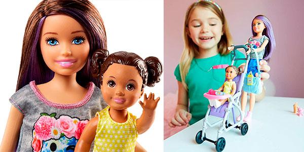 Muñeca Skipper, hermana de Barbie, niñera de paseo barata