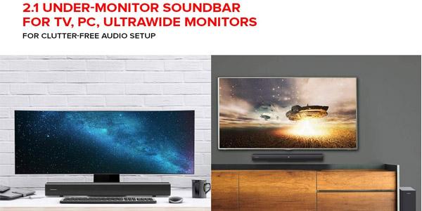 Barra de sonido Creative Stage 2.1 con subwoofer para TV o monitor chollo en Amazon