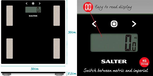 Báscula de baño Salter con análisis de bioimpedancia barata