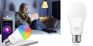 Bombilla LED inteligente con conexión Wifi Loginovo Tuya barata en AliExpress