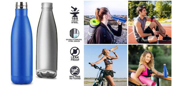 Botella térmica flintronic de 500 ml con funda y cepillo limpieza chollo en Amazon