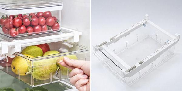 Cajón organizador para refrigerador barato en AliExpress