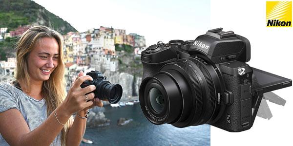 Cámara digital Evil Nikon Z 50 + obejetico Nikkor 16-50 DX VR oferta en Amazon
