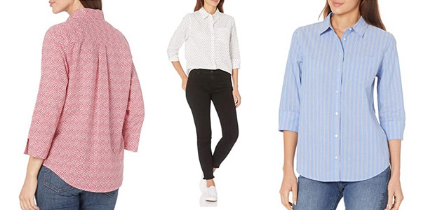 Camisas Amazon Essentials Classic-fit para mujer baratas en Amazon