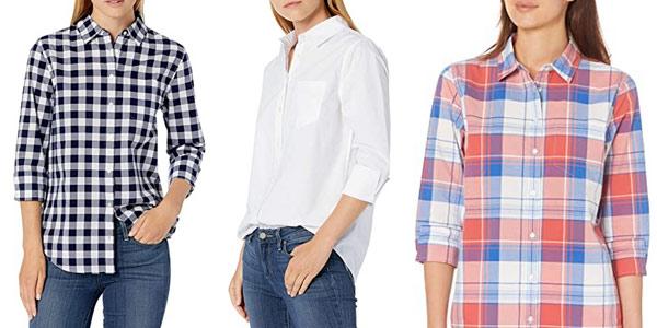 Camisas Amazon Essentials Classic-fit para mujer chollo en Amazon