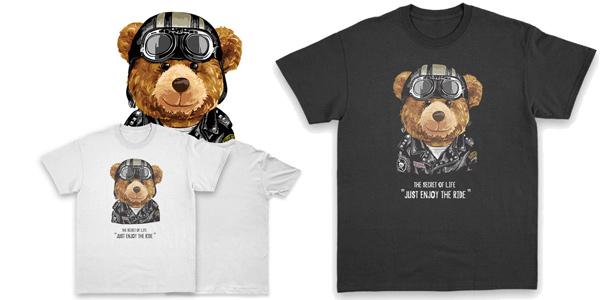Camisetas moteras ExtFine 100% algodón para hombre chollo en AliExpress