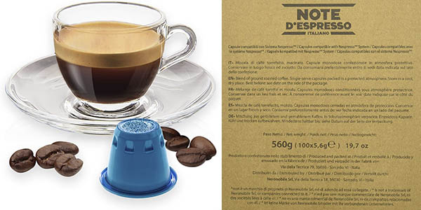 cápsulas de café compatibles Nespresso Note D'espresso chollo