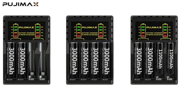 Cargador de batería eléctrico de 4 ranuras para pilas AA/AAA oferta en AliExpress