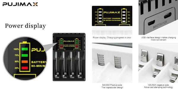 Cargador de batería eléctrico de 4 ranuras para pilas AA/AAA chollo en AliExpress