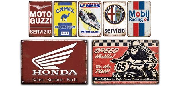 Carteles de metal estilo retro de marcas comerciales oferta en AliExpress