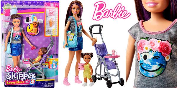 Chollo Muñeca Skipper, hermana de Barbie, niñera de paseo