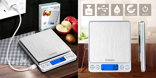 Chollo Báscula de cocina digital CHWARES con carga USB