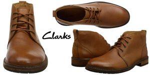 Chollo Botas Clarks Clarkdale Base de cuero para hombre
