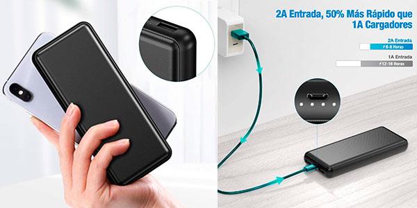 Chollo Batería externa iEsafy de 26.800 mAh con 2 USB