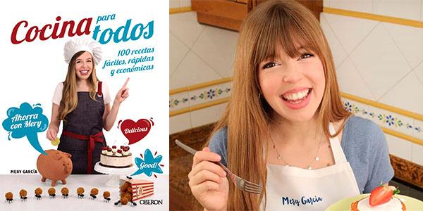 """Chollo Libro """"Cocina para todos: 100 recetas fáciles, rápidas y económicas"""" de Mery García"""