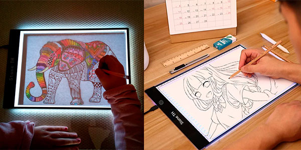 Chollo Mesa de luz LED Stone TH A4 para dibujar