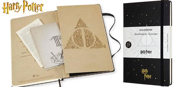 Chollo Cuaderno grande Moleskine Harry Potter Reliquias de la Muerte