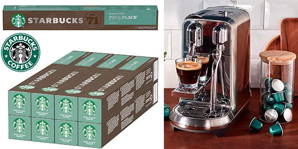 Chollo Pack de 80 cápsulas café Starbucks Pike Place Roast de Nespresso