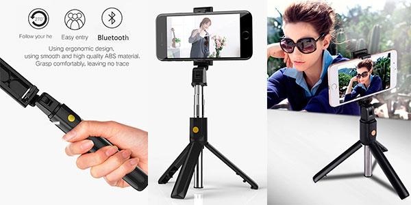 Chollo Selfie stick K07 Bluetooth con trípode desmontable