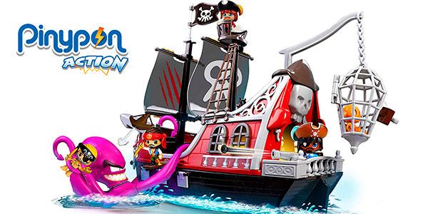 Chollo Set Barco Pirata: Ataque al Kraken de Pinypon