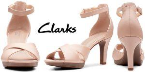 Chollo Zapatos de tacón Clarks Adriel Cove con correa de tobillo para mujer