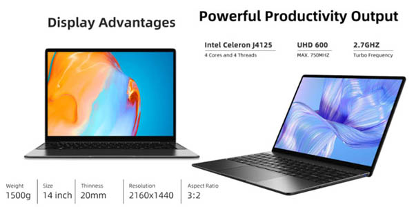 Chuwi Gemibook Pro ordenador portátil valoraciones altas cupón descuento