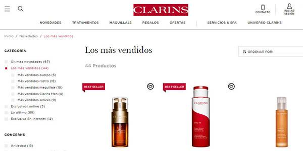 Clarins promoción tienda online