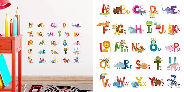 Decowall DS 8002 abecedario vinilo infantil chollo