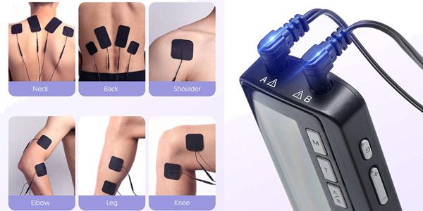 Electroestimulador muscular TENS Hilogy oferta en Amazon