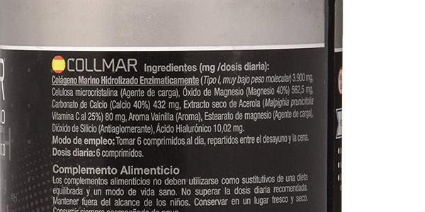 Colágeno marino Collmar 180 comprimidos chollo en Amazon