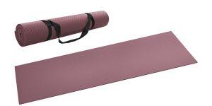 Esterilla antideslizante para yoga Lidl con correa de transporte barata